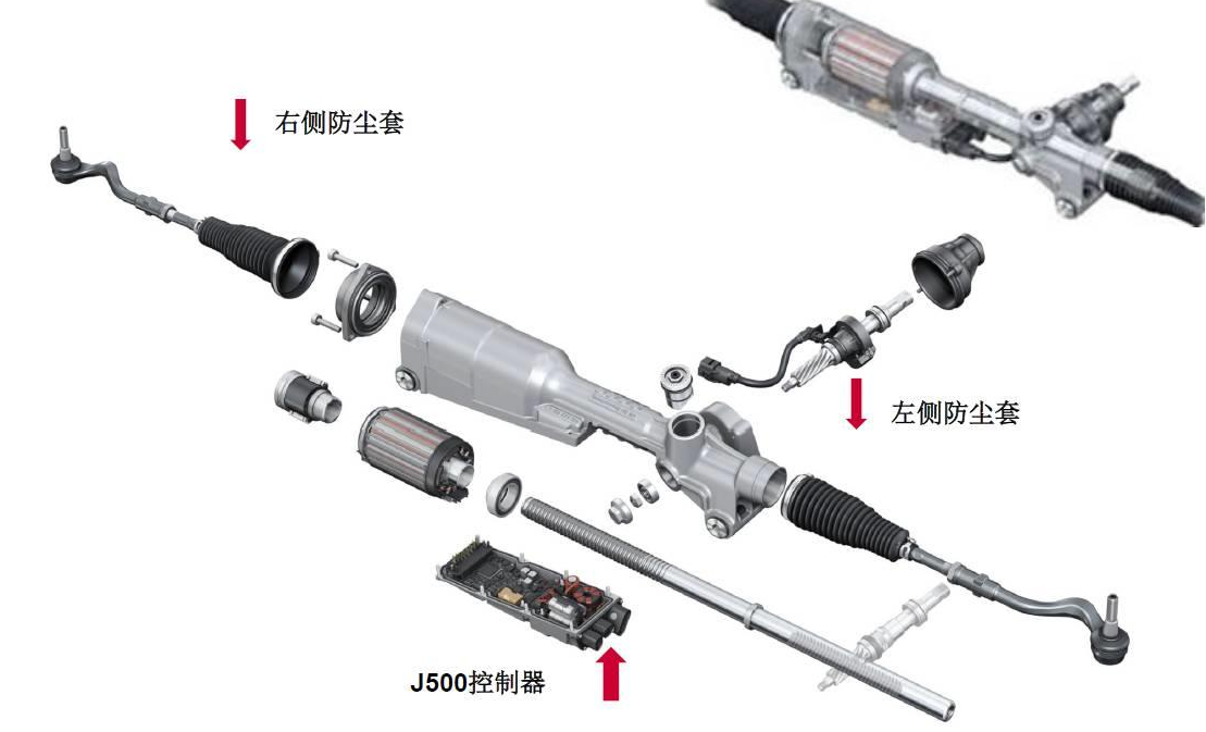 奥迪电控机械式转向机故障正确保养检修